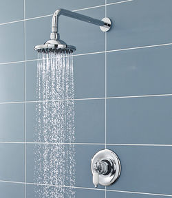 Ultra Showers Sequential Thermostatic Shower Valve With Head & Arm (Chrome).
