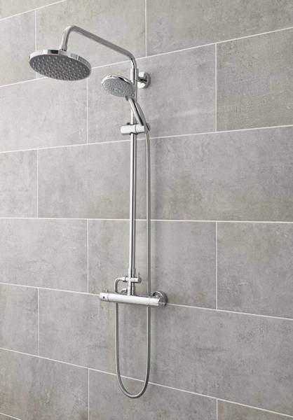 Ultra Showers Minimalist Thermostatic Bar Shower Valve & Telescopic Kit.