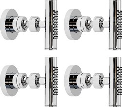 Hudson Reed Shower Jets 4 x Minimalist Body Jets (Chrome).