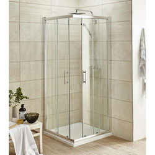 Premier Enclosures Corner Shower Entry Enclosure (800x800mm).