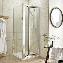 Premier Enclosures Shower Enclosure With Bi-Fold Door (900x900mm).