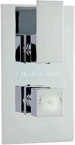 Hudson Reed Art Twin Concealed Thermostatic Shower Valve (Chrome).