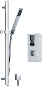 Hudson Reed Art Twin Thermostatic Shower Valve & Slide Rail Kit (Chrome).