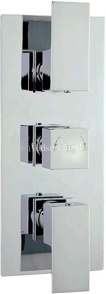 Hudson Reed Art Triple Concealed Thermostatic Shower Valve (Chrome).