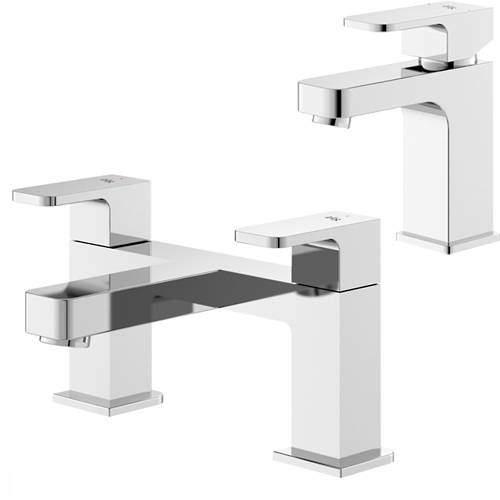 HR Astra Basin & Bath Filler Tap Pack (Chrome).