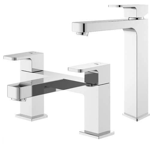 HR Astra Tall Basin & Bath Filler Tap Pack (Chrome).