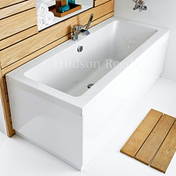 Double Ended Acrylic Bath & White Panels. 1700x700mm ...