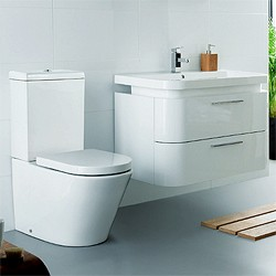 Ultra Bias Complete Bathroom Furniture Pack With Embrace Tap (White).