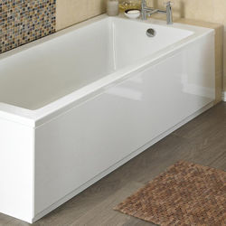 Crown Bath Panels Side Bath Panel (High Gloss White, 1700mm).