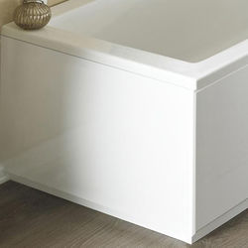 Crown Bath Panels End Bath Panel (High Gloss White, 800mm).