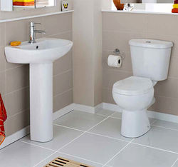 Premier Brisbane Bathroom Suite With Toilet, Basin & Ped (1 Tap Hole).