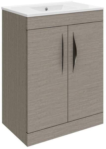 Hudson Reed Memoir 600 Vanity Unit With Doors & 120 Basin (Blonde Oak).
