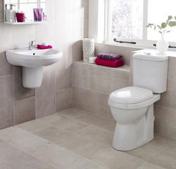 Premier Caledon Suite With Toilet, 550mm Basin & Semi Pedestal (1TH).