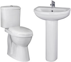Premier Caledon Suite With Toilet, 550mm Basin & Full Pedestal (1TH).