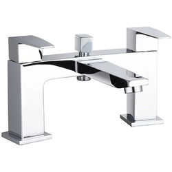 Hudson Reed Camber Designer Bath Shower Mixer Tap With Kit (Chrome).