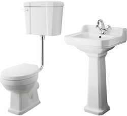 Premier Carlton Low level Toilet With 500mm Basin & Pedestal (1TH).