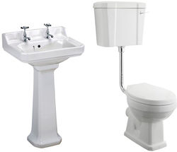 Premier Carlton Low level Toilet With 500mm Basin & Pedestal (2TH).