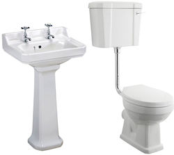 Premier Carlton Low level Toilet With 560mm Basin & Pedestal (2TH).