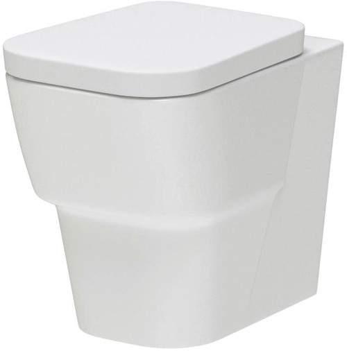 Premier Ceramics Back to Wall Toilet Pan & Seat (BTW).