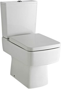 Ultra Mercury Short Projection Toilet Pan With Cistern, Push Flush & Seat.