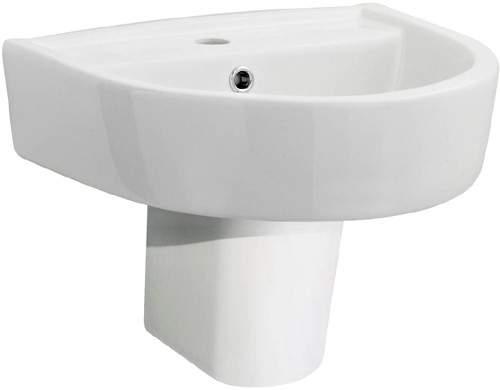 Ultra Orb Basin & Semi Pedestal (1 Tap Hole, 420mm).