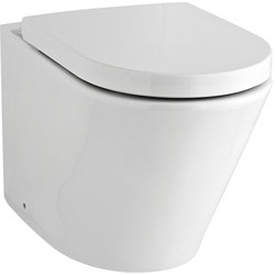 Premier Ceramics Back to Wall Toilet Pan & Luxury Seat (BTW).