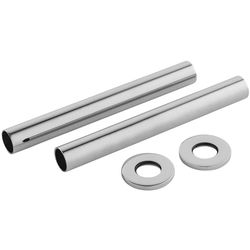 Towel Rails Pipe Covers 300x15mm (Pair, Chrome).