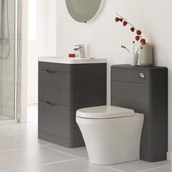 Premier Eclipse 600mm Vanity Unit Pack 1 (Grey Woodgrain).