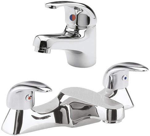 Ultra Eon Basin & Bath Filler Tap Pack (Chrome).