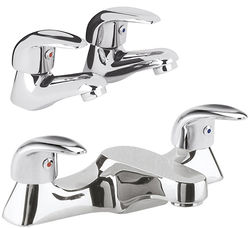 Ultra Eon Bath Filler & Basin Taps Pack (Chrome).