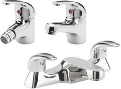 Ultra Eon Bath Filler, Mono Basin & Bidet Tap Pack (Chrome).