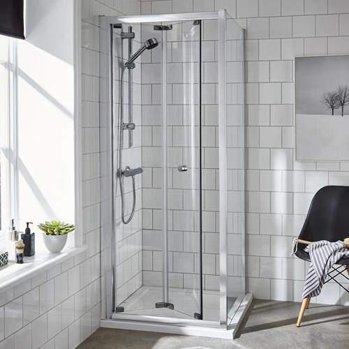 Premier Enclosures Shower Enclosure With Bi-Fold Door (760x760mm).