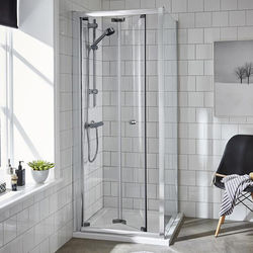 Premier Enclosures Shower Enclosure With Bi-Fold Door (800x800mm).