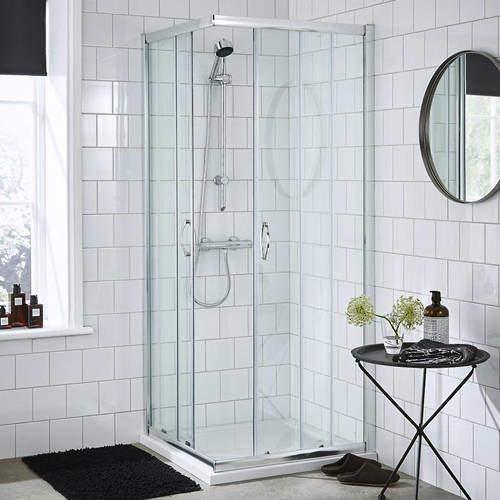 Premier Enclosures Corner Entry Shower Enclosure (800x800mm).