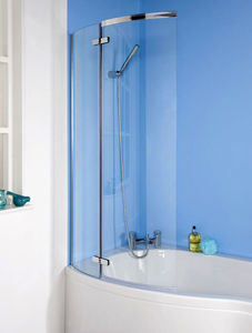 Premier Bath Screens Ella Curved P-Bath Screen (1400x730mm).