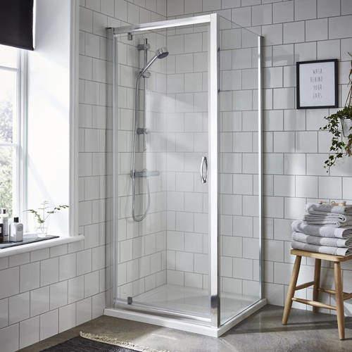 Premier Enclosures Shower Enclosure With Pivot Door (800x800mm).