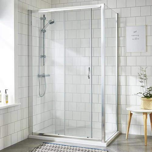Premier Enclosures Shower Enclosure With Sliding Door (1200x900mm).