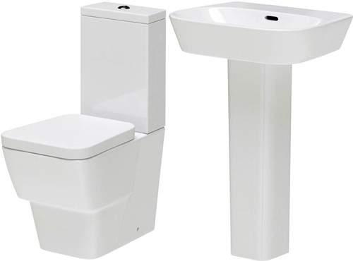 Hudson Reed Ceramics 4 Piece Bathroom Suite With Toilet & Basin.