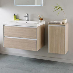 Hudson Reed Erin Wall Mounted Vanity Pack With Basin (Light Oak).