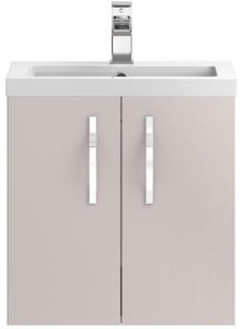 Hudson Reed Apollo  Wall Hung Vanity Unit & Basin (500mm, Cashmere).