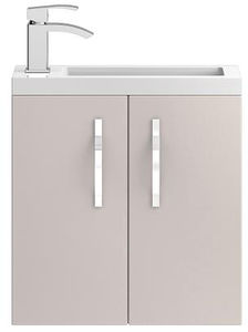 HR Apollo Compact Wall Hung Vanity Unit & Basin (500mm, Cashmere).