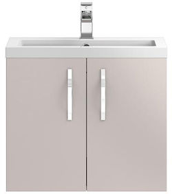 Hudson Reed Apollo  Wall Hung Vanity Unit & Basin (600mm, Cashmere).