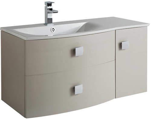 HR Sarenna Wall Hung 1000mm Cabinet & Basin LH (Cashmere).