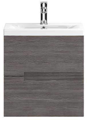 HR Urban Wall Hung 500mm Vanity Unit & Basin Type 2 (Grey Avola).