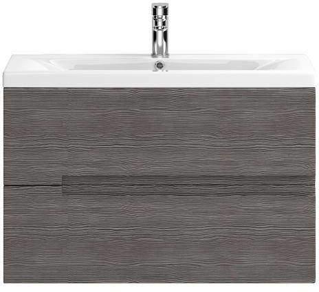 HR Urban Wall Hung 800mm Vanity Unit & Basin Type 1 (Grey Avola).
