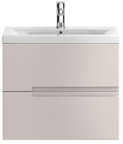 HR Urban Wall Hung 600mm Vanity Unit & Basin Type 2 (Cashmere).