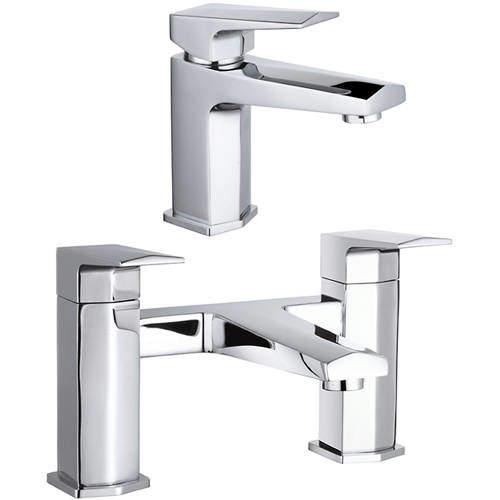 Hudson Reed Hardy Designer Basin & Bath Filler Tap (Chrome).