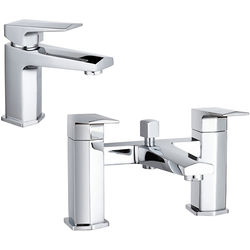 Hudson Reed Hardy Designer Basin & Bath Shower Mixer Tap With Kit.