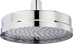 Hudson Reed Tec Round Shower Head (Chrome). 200mm.