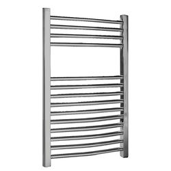 Crown Radiators Ladder Towel Radiator H700 x W500 (Curved, Chrome).